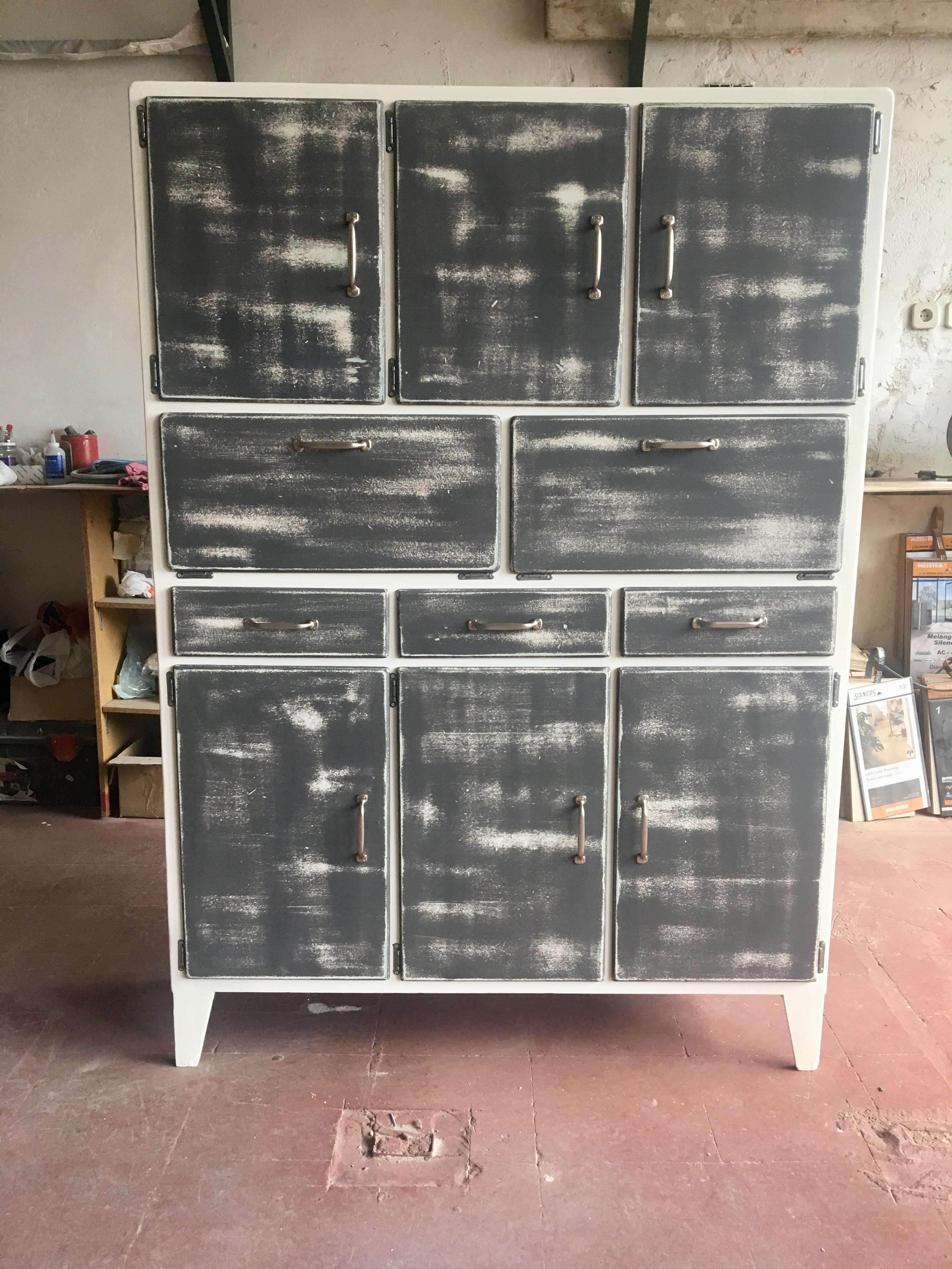 Restauración mueble de cocina Vintage - Herrero & Blanco ...